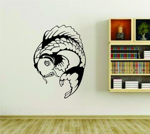 Koi Fish Version 116 Asian Asia Vinyl Wall Decal Sticker - ezwalldecals vinyl decal - vinyl sticker - decals - stickers - wall decal - jdm decal - vinyl stickers - vinyl decals - 1