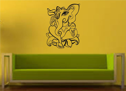 Ganesha Elephant Version 106 Wall Decal Sticker - ezwalldecals  - vinyl decal - vinyl sticker - decals - stickers - wall decal - jdm decal - vinyl stickers - vinyl decals - 1