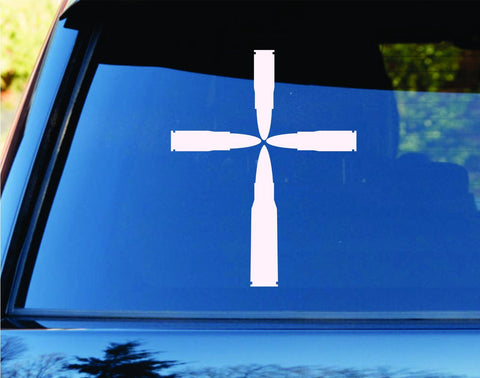 Bullet Cross Religion Car Truck Window Windshield Lettering... - ezwalldecals vinyl decal - vinyl sticker - decals - stickers - wall decal - jdm decal - vinyl stickers - vinyl decals - 1