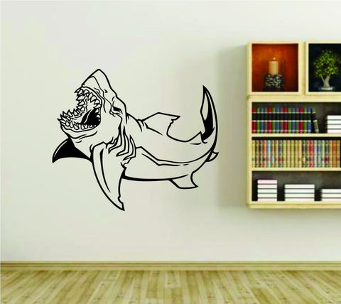 Shark Ocean Animal Fish Vinyl Wall Decal Sticker - ezwalldecals  - vinyl decal - vinyl sticker - decals - stickers - wall decal - jdm decal - vinyl stickers - vinyl decals - 1