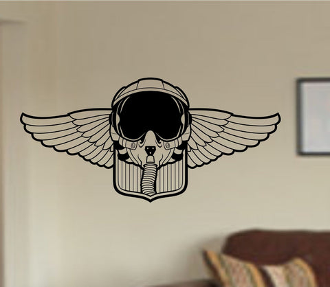 Airforce Symbol Logo Helmet Wings Crest Military Vinyl Wall Decal Sticker - ezwalldecals  - vinyl decal - vinyl sticker - decals - stickers - wall decal - jdm decal - vinyl stickers - vinyl decals - 1