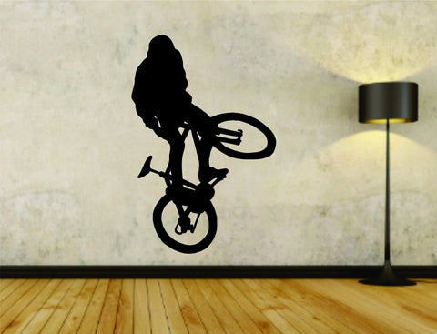 Bmx Rider Bike Bicycle Version 102 Vinyl Wall Decal Sticker Car Window Truck - ezwalldecals  - vinyl decal - vinyl sticker - decals - stickers - wall decal - jdm decal - vinyl stickers - vinyl decals - 1