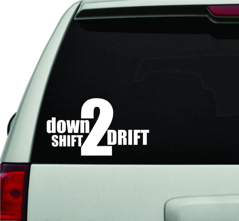 Downshift 2 Drift JDM Car Truck Window Windshield Lettering Decal Sticker - ezwalldecals vinyl decal - vinyl sticker - decals - stickers - wall decal - jdm decal - vinyl stickers - vinyl decals - 1