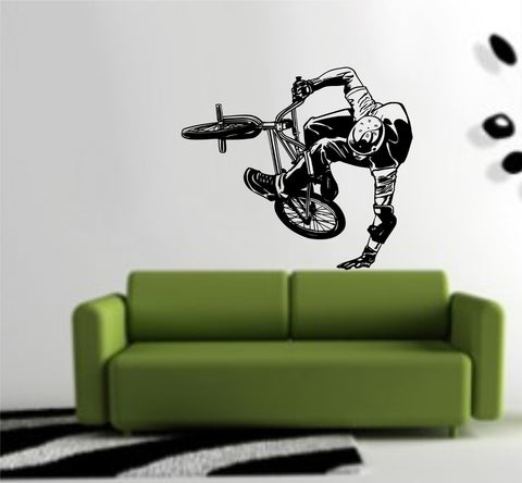 BMX Rider Version 103 Decal Sticker Bike Bicycle X Games Racing Boy Teen Wall - ezwalldecals  - vinyl decal - vinyl sticker - decals - stickers - wall decal - jdm decal - vinyl stickers - vinyl decals - 1
