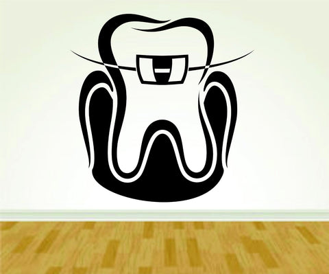 Tooth Teeth Dentist Dentistry Smile Sign Version 106 Decal Sticker Wall Boy - ezwalldecals  - vinyl decal - vinyl sticker - decals - stickers - wall decal - jdm decal - vinyl stickers - vinyl decals - 1