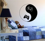 Yin Yang Video Game Controllers Decal Sticker Wall Boy Girl Teen - ezwalldecals  - vinyl decal - vinyl sticker - decals - stickers - wall decal - jdm decal - vinyl stickers - vinyl decals - 1