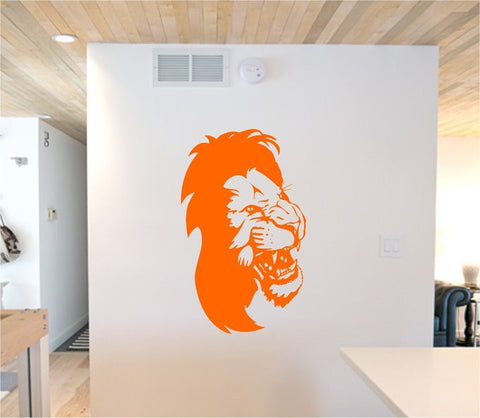 Lion Face Version 113 Sticker Wall Decal Animal King of the Jungle Art Graphic - ezwalldecals  - vinyl decal - vinyl sticker - decals - stickers - wall decal - jdm decal - vinyl stickers - vinyl decals - 1