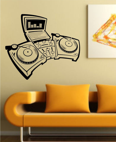Turntables Design Decal Sticker Wall Instrument Cool Modern Beautiful Child B... - ezwalldecals vinyl decal - vinyl sticker - decals - stickers - wall decal - jdm decal - vinyl stickers - vinyl decals - 1