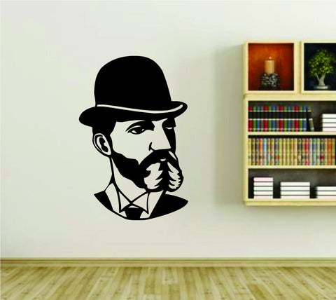 Bearded Old Fashioned Man Face Vinyl Wall Decal Sticker - ezwalldecals  - vinyl decal - vinyl sticker - decals - stickers - wall decal - jdm decal - vinyl stickers - vinyl decals - 1