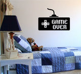 Game Over Controller Video Game Gamer Decal Sticker Wall Boy Girl Teen Child - ezwalldecals vinyl decal - vinyl sticker - decals - stickers - wall decal - jdm decal - vinyl stickers - vinyl decals - 1