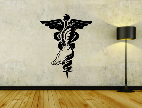 Podiatrist Foot Doctor Dr Business Logo Vinyl Wall Decal Sticker - ezwalldecals  - vinyl decal - vinyl sticker - decals - stickers - wall decal - jdm decal - vinyl stickers - vinyl decals - 1