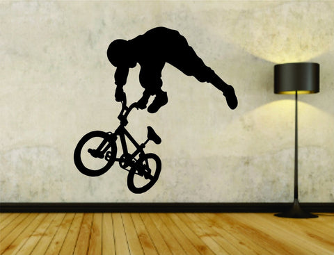 Bmx Rider Bike Bicycle Version 104 Vinyl Wall Decal Sticker Car Window Truck - ezwalldecals  - vinyl decal - vinyl sticker - decals - stickers - wall decal - jdm decal - vinyl stickers - vinyl decals - 1