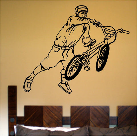 BMX Rider Version 107 Decal Sticker Bike Bicycle X Games Racing Boy Teen Wall - ezwalldecals  - vinyl decal - vinyl sticker - decals - stickers - wall decal - jdm decal - vinyl stickers - vinyl decals - 1
