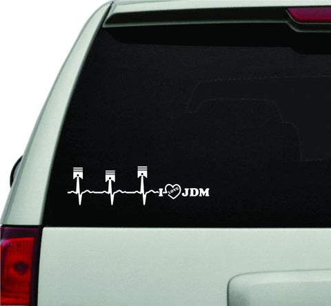 Heartbeat Monitor I Love JDM Car Truck Window Windshield Lettering Decal Sticker - ezwalldecals vinyl decal - vinyl sticker - decals - stickers - wall decal - jdm decal - vinyl stickers - vinyl decals - 1