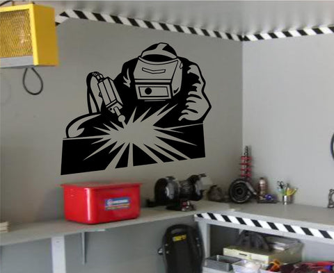 Welder - Man Welding Vinyl Wall Decal Sticker Decals Stickers - ezwalldecals  - vinyl decal - vinyl sticker - decals - stickers - wall decal - jdm decal - vinyl stickers - vinyl decals - 1