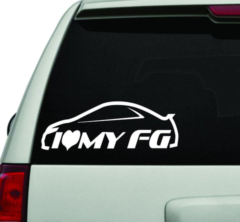 I Love My FG Car JDM Car Truck Window Windshield Lettering Decal Sticker - ezwalldecals vinyl decal - vinyl sticker - decals - stickers - wall decal - jdm decal - vinyl stickers - vinyl decals - 1