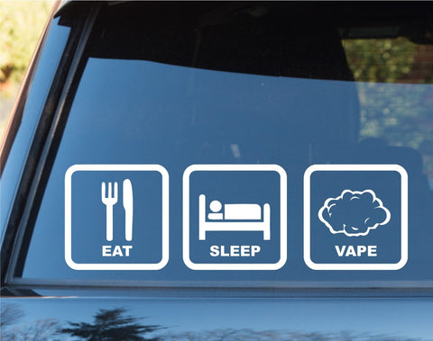 Eat Sleep Vape Car Window Lettering Laptop Decal Sticker - ezwalldecals vinyl decal - vinyl sticker - decals - stickers - wall decal - jdm decal - vinyl stickers - vinyl decals - 1