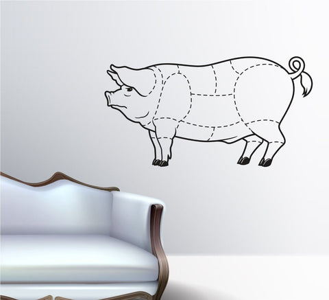 Butcher Pig Pork Meat Cuts Cutter Version 101 Vinyl Wall Decal Sticker - ezwalldecals  - vinyl decal - vinyl sticker - decals - stickers - wall decal - jdm decal - vinyl stickers - vinyl decals - 1