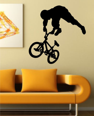 BMX Rider Version 106 Decal Sticker Bike Bicycle X Games Racing Boy Teen Wall - ezwalldecals  - vinyl decal - vinyl sticker - decals - stickers - wall decal - jdm decal - vinyl stickers - vinyl decals - 1