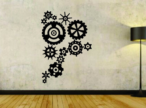 Steampunk Gears Version 102 Gear Design Vinyl Wall Decal Sticker - ezwalldecals  - vinyl decal - vinyl sticker - decals - stickers - wall decal - jdm decal - vinyl stickers - vinyl decals - 1