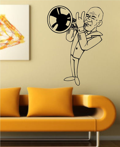 Jazz Musician Playing Trumpet Vinyl Wall Decal Sticker - ezwalldecals  - vinyl decal - vinyl sticker - decals - stickers - wall decal - jdm decal - vinyl stickers - vinyl decals - 1
