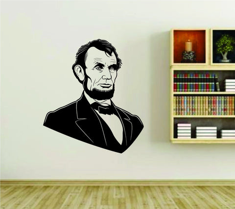 Abe Lincoln President Vinyl Wall Decal Sticker - ezwalldecals  - vinyl decal - vinyl sticker - decals - stickers - wall decal - jdm decal - vinyl stickers - vinyl decals - 1