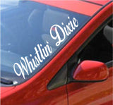 Whistlin Dixie Large Car Truck Window Windshield Decal Sticker - ezwalldecals vinyl decal - vinyl sticker - decals - stickers - wall decal - jdm decal - vinyl stickers - vinyl decals - 1