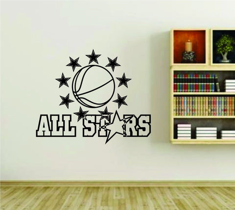 Basketball Allstars Team Allstar Sports Vinyl Wall Decal Sticker - ezwalldecals  - vinyl decal - vinyl sticker - decals - stickers - wall decal - jdm decal - vinyl stickers - vinyl decals - 1