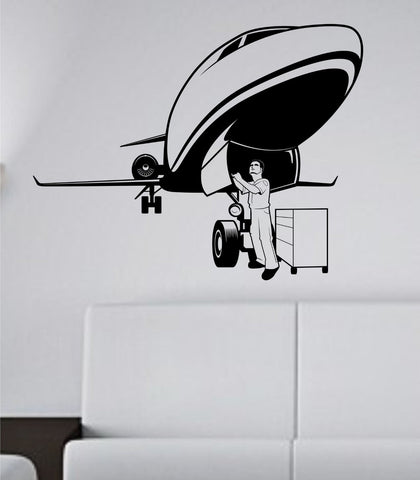 Aircraft Mechanic Airplane Vinyl Wall Decal Sticker - ezwalldecals vinyl decal - vinyl sticker - decals - stickers - wall decal - jdm decal - vinyl stickers - vinyl decals - 1