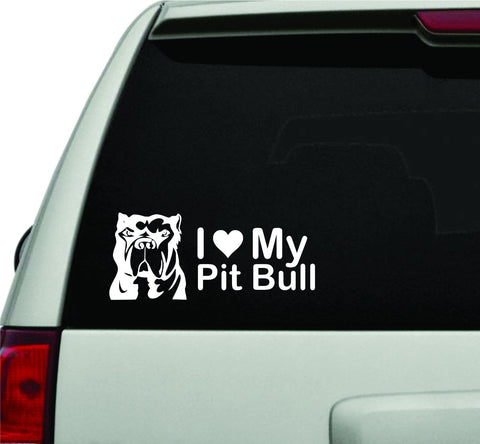I Love My Pitbull JDM Car Truck Window Windshield Lettering Decal Sticker - ezwalldecals vinyl decal - vinyl sticker - decals - stickers - wall decal - jdm decal - vinyl stickers - vinyl decals - 1