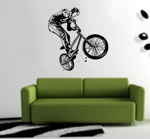 BMX Rider Version 104 Decal Sticker Bike Bicycle X Games Racing Boy Teen Wall Decal Sticker - ezwalldecals  - vinyl decal - vinyl sticker - decals - stickers - wall decal - jdm decal - vinyl stickers - vinyl decals - 1