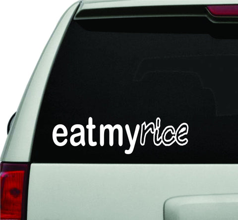 Eat My Rice JDM Car Truck Window Windshield Lettering Decal Sticker - ezwalldecals vinyl decal - vinyl sticker - decals - stickers - wall decal - jdm decal - vinyl stickers - vinyl decals - 1