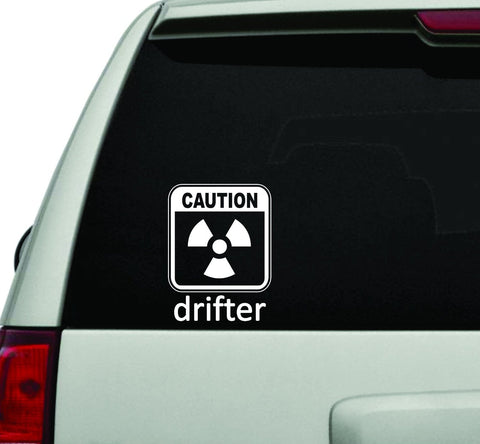Caution Drifter JDM Car Truck Window Windshield Lettering Decal Sticker - ezwalldecals vinyl decal - vinyl sticker - decals - stickers - wall decal - jdm decal - vinyl stickers - vinyl decals - 1