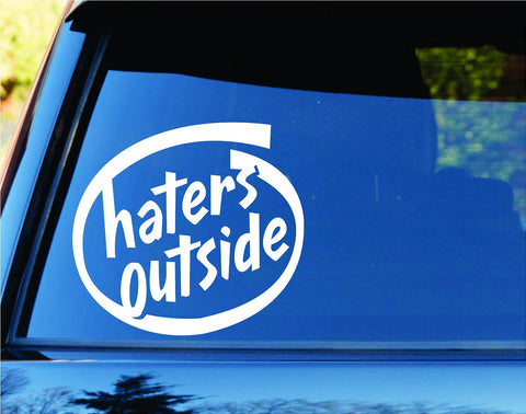 Haters Outside Car Truck Window Windshield Lettering Decal Sticker - ezwalldecals vinyl decal - vinyl sticker - decals - stickers - wall decal - jdm decal - vinyl stickers - vinyl decals - 1