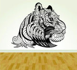 Tribal Lion Face Version 102 Design Vinyl Wall Decal Sticker Art Kid Children - ezwalldecals  - vinyl decal - vinyl sticker - decals - stickers - wall decal - jdm decal - vinyl stickers - vinyl decals - 1