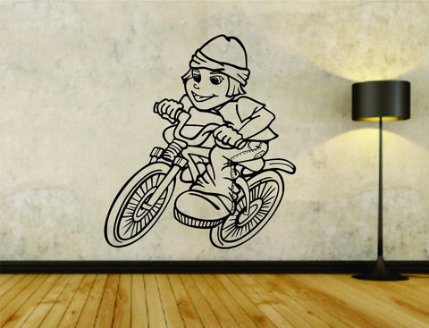 Bmx Rider Bike Bicycle Version 108 Vinyl Wall Decal Sticker - ezwalldecals  - vinyl decal - vinyl sticker - decals - stickers - wall decal - jdm decal - vinyl stickers - vinyl decals - 1