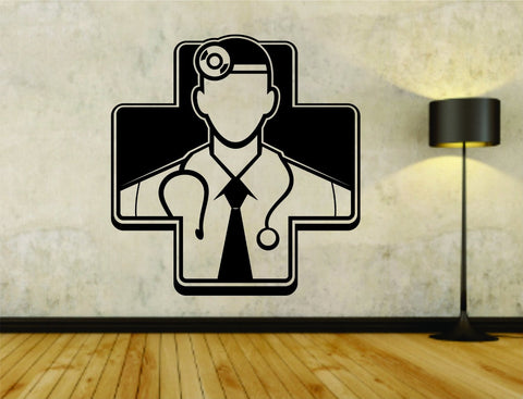 Medical Male Doctor Dr Business Logo Vinyl Decal Sticker Wall Boy Girl Doctor - ezwalldecals  - vinyl decal - vinyl sticker - decals - stickers - wall decal - jdm decal - vinyl stickers - vinyl decals - 1