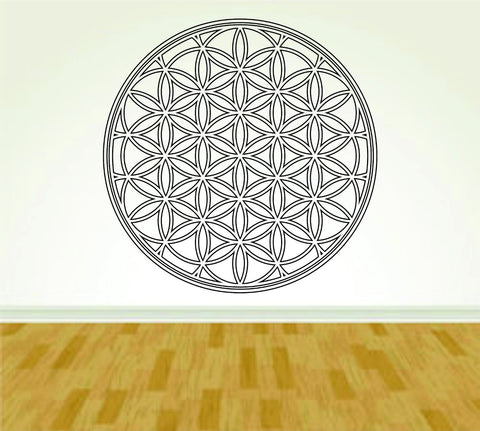Flower of Life Religous Symbol Design Vinyl Wall Decal Sticker Art Kid - ezwalldecals  - vinyl decal - vinyl sticker - decals - stickers - wall decal - jdm decal - vinyl stickers - vinyl decals - 1