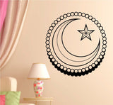 Star and Crescent Words Quotes Vinyl Wall Decal Sticker Art Graphic - ezwalldecals  - vinyl decal - vinyl sticker - decals - stickers - wall decal - jdm decal - vinyl stickers - vinyl decals - 1