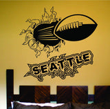 Seattle City Football Ripping Bursting Through Wall Decal Sticker - ezwalldecals vinyl decal - vinyl sticker - decals - stickers - wall decal - jdm decal - vinyl stickers - vinyl decals - 1