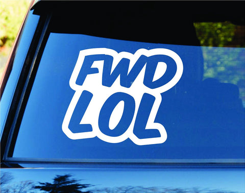 FWD LOL Freshener Car Truck Window Windshield Lettering Decal Sticker - ezwalldecals vinyl decal - vinyl sticker - decals - stickers - wall decal - jdm decal - vinyl stickers - vinyl decals - 1