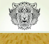 Tribal Lion face Version 101 Vinyl Wall Decal Sticker Art Kid Children - ezwalldecals  - vinyl decal - vinyl sticker - decals - stickers - wall decal - jdm decal - vinyl stickers - vinyl decals - 1