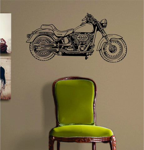 Motorcycle Version 101 Hog Chopper Wall Decal Sticker Decals Stickers Vinyl - ezwalldecals  - vinyl decal - vinyl sticker - decals - stickers - wall decal - jdm decal - vinyl stickers - vinyl decals - 1