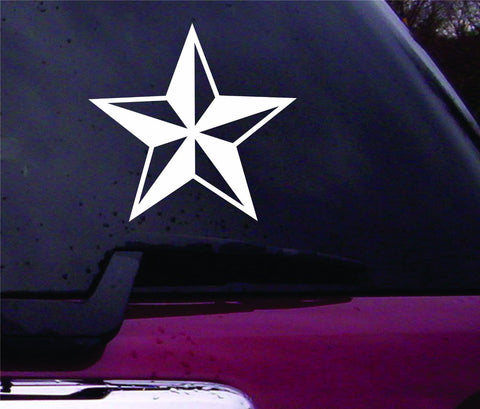 Nautical Star Vinyl Decal Sticker Art Graphic Sticker Laptop Car Window - ezwalldecals vinyl decal - vinyl sticker - decals - stickers - wall decal - jdm decal - vinyl stickers - vinyl decals - 1