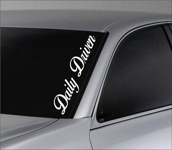 Daily Driven Car Truck Window Windshield Lettering Decal Sticker Decals Stick... - ezwalldecals vinyl decal - vinyl sticker - decals - stickers - wall decal - jdm decal - vinyl stickers - vinyl decals - 1