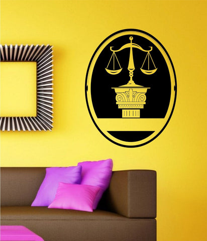 Attorney Symbol Vinyl Wall Decal Sticker Car Window Truck Decals Stickers - ezwalldecals  - vinyl decal - vinyl sticker - decals - stickers - wall decal - jdm decal - vinyl stickers - vinyl decals - 1