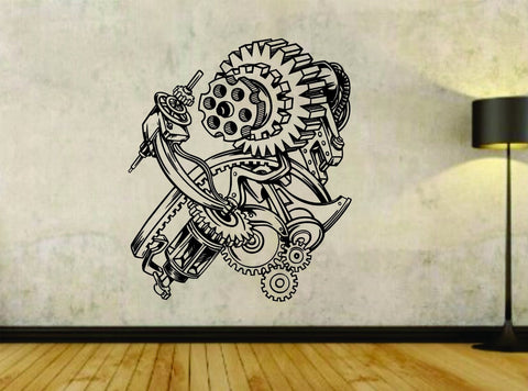 Steampunk Gears Version 101 Gear Design Vinyl Wall Decal Sticker Car Window - ezwalldecals  - vinyl decal - vinyl sticker - decals - stickers - wall decal - jdm decal - vinyl stickers - vinyl decals - 1