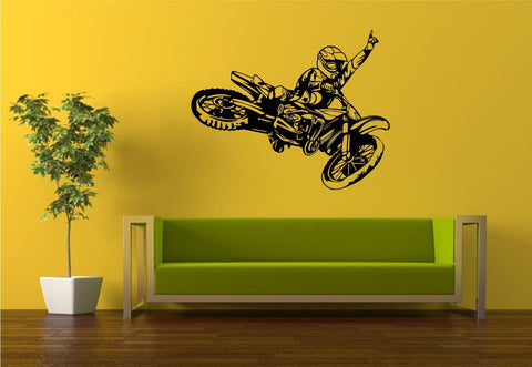 Dirtbike Rider Version 112 Wall Decal Sticker Mx X Games Trick Racing Motorcycle - ezwalldecals  - vinyl decal - vinyl sticker - decals - stickers - wall decal - jdm decal - vinyl stickers - vinyl decals - 1