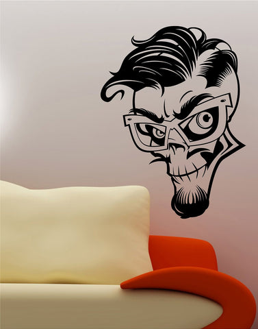 Greaser Rockabilly Skull Wall Vinyl Decal Sticker Art Graphic - ezwalldecals  - vinyl decal - vinyl sticker - decals - stickers - wall decal - jdm decal - vinyl stickers - vinyl decals - 1