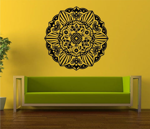 Mandala Menhdi Flower Pattern Version 102 Decal Sticker Wall Decals Stickers - ezwalldecals  - vinyl decal - vinyl sticker - decals - stickers - wall decal - jdm decal - vinyl stickers - vinyl decals - 1